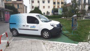 Colonnina per ricaricare auto elettriche